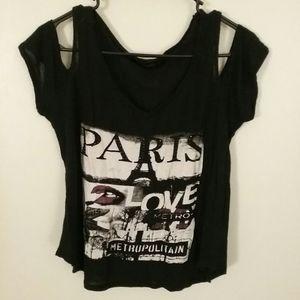 Paris Love Cut Shoulder